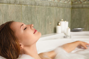 relax in a bath